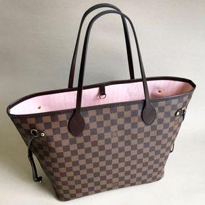 New! LOUIS VUITTON Neverfull MM Rose Ballerine Bag
